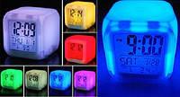 Светящиеся Часы Будильник Хамелеон Куб CX 508