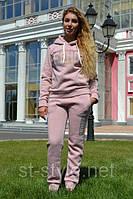 Трикотажный женский теплый костюм, размеры 44,46,48 про-во Турция, фото 1