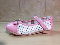 Детские нарядные туфли с брошкой для девочек 21-29рр. ТОМ.М