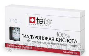 Ампулы для лица Гиалуроновая кислота 100% (Pure hyaluronic acid), TETe Cosmeceutical,Швейцария(3х10 мл)