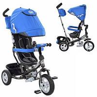 Детский трехколесный велосипед M 3452-3FA Надувные колеса Поворотное сиденье Бежевый