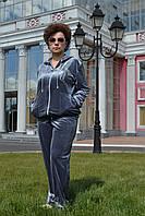 Женский велюровый костюм, большие размеры 54,56,58,60 купить в Украине