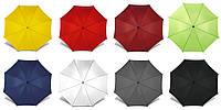 Зонт трость под нанесение логотипа, опт от 10 шт  (трость, полуавтомат, ручка дерево, 10 цветов)