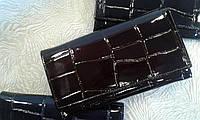 Женский кошелек кожаный,лаковый коричневый фирмы АКА Deri (Турция)