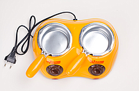 Электрический Набор для Фондю с Двумя Чашами Chocolatiere Шоколадница