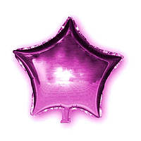 Фольгированный шар Josef Otten звезда 45х45см малиновая