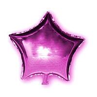 Фольгированный шар Звезда малиновая, 45х45см. Воздушные шарики оптом. , фото 1