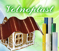 576683 коричневый (2,5 х 20 м) - шифер гофрированный прозрачный в рулонах Volnoplast (Волнопласт)