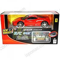 Автомобиль Ferrari, 1:24, р/у, красная, на батарейках