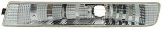 Ліхтар покажчика повороту на Opel Vivaro 01->06 R (правий, білий, в бампері) — TYC (Тайвань) - TYC18-0379-01-2
