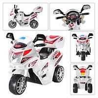Детский мотоцикл M 0567-1 Bambi (белый)