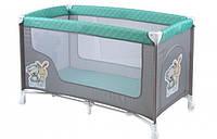 """Манеж кроватка """"Nanny-1"""", прямоугольный, серый"""