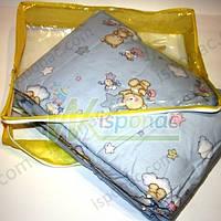 Защита в кроватку Мишка со звездами и луной, 4 эл., голубой