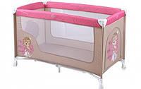 """Манеж кроватка """"Nanny-1"""", прямоугольный, розовый"""