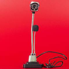 Веб-камера Lesko М800 HD черная для компьютера ноутбука качественная связь видео чатах skype viber оптическая