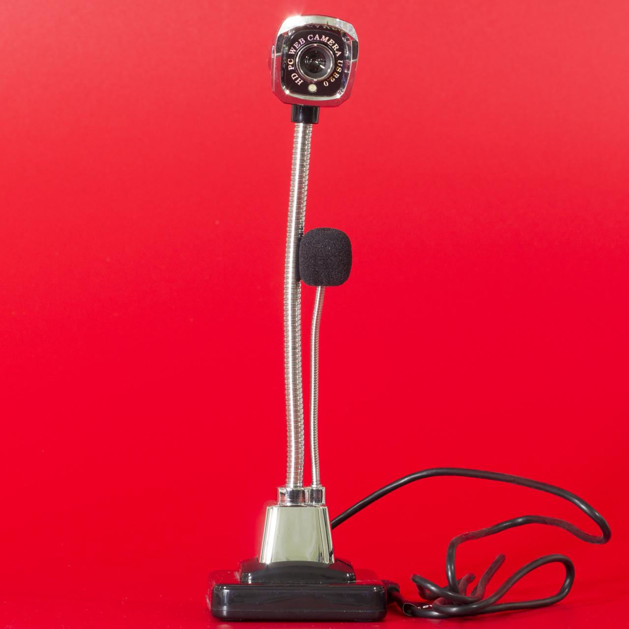 Веб-камера Lesko М800 HD черная для компьютера ноутбука качественная связь видео чатах skype viber оптическая - Фактория - персональная техника в Киеве