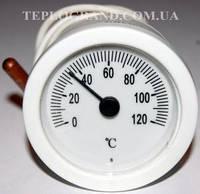 Термометр круглый SVT 52 P, 0-120°C, с выносным датчиком 1м, LT144