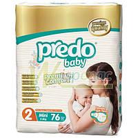 Подгузники PREDO BABY Premium 2 (3-6 кг), 76 шт