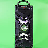 Мощная портативная колонка Samsung MS-191BT черная с LED подсветкой USB TF карты bluetooth mp3 плеер FM радио