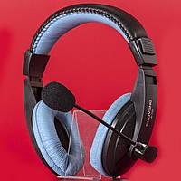 Мультимедийная гарнитура SOUYANA S-750 черно-синяя для компьютера ноутбука с микрофоном игровая jack 3.5