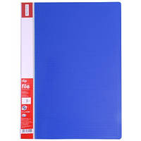 Папка с прижимом Папка с боковым прижимом  А4  CLIP B  Полоса Optima O31254 (O31254-02(синяя) x 124795)