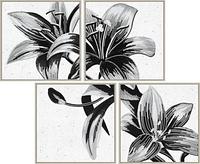 """Схема для вышивки бисером """"Таинственная лилия"""", полиптих из 4 частей"""