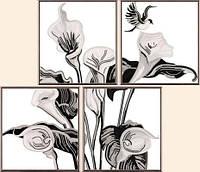 """Схема для вышивки бисером """"Каллы"""", полиптих из 4 частей"""