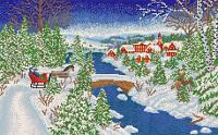 Схема для вышивки бисером По первому снегу
