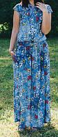 """ПП Украина Платье  большого и маленького размера """"Лето-букет """" от 46 до 64 размер"""
