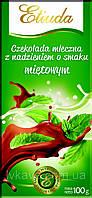 Шоколад молочный Etiuda со вкусом мяты Польша 100г