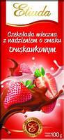 Шоколад молочный Etiuda со вкусом клубники Польша 100г