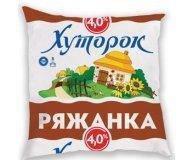 Ряженка Хуторок 4% п/э 450г