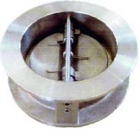 Клапан обратный межфланцевый двухстворчатый из нержавеющей стали DDSCV-16SS