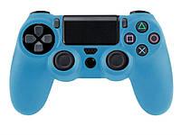 Силиконовый чехол для Sony Playstation 4  Голубой