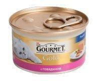 Корм для котов Gourmet Gold паштет с говядиной 85г