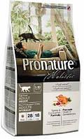 Pronature Holistic Cat Adult Indoor с индейкой и клюквой, 340 гр