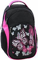 Рюкзак Bagland Лик 21 л. Чёрный / розовый (0055770)