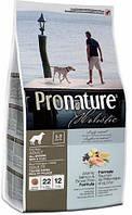 Pronature Holistic Dog Adult All Breeds Skin & Coat с атлантическим лососем и коричневым рисом, 13,6 кг