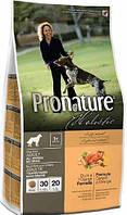 Pronature Holistic Dog Adult All Breeds с уткой и апельсинами, 2,72 кг