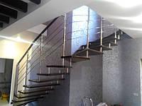 Лестницы из металла и стекла для дома и офиса