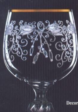 Boh Claudia Бокал для вина 230мл  6шт. b40149 (436433) обод.+рис.