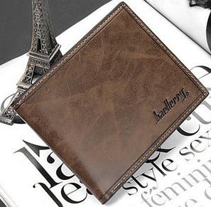 Стильный кожаный мужской кошелек портмоне Baellerry коричневый, фото 2
