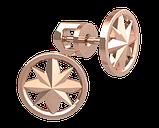 Серьги серебряные гвоздики Роза Ветров 40977, фото 2