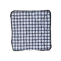 Подушка на табурет 35х35см Синяя клетка