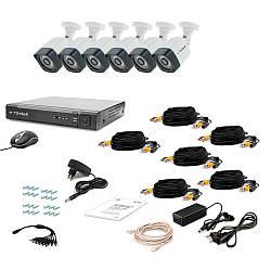 Комплект видеонаблюдения Tecsar AHD 6OUT-3M LIGHT