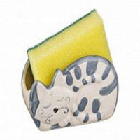 "Lefard Подставка для кух.принадлежностей ""Серый кот""12х5х7см 490-137-1"