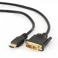 Кабель Gembird HDMI to DVI 0.5м (CC-HDMI-DVI-0.5M) черный
