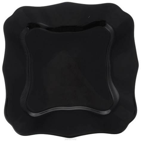 Luminarc Authentic Black Тарелка обеденная квадрат. 26см J1335, фото 2