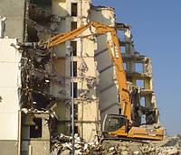 Демонтажные работы снос строений.