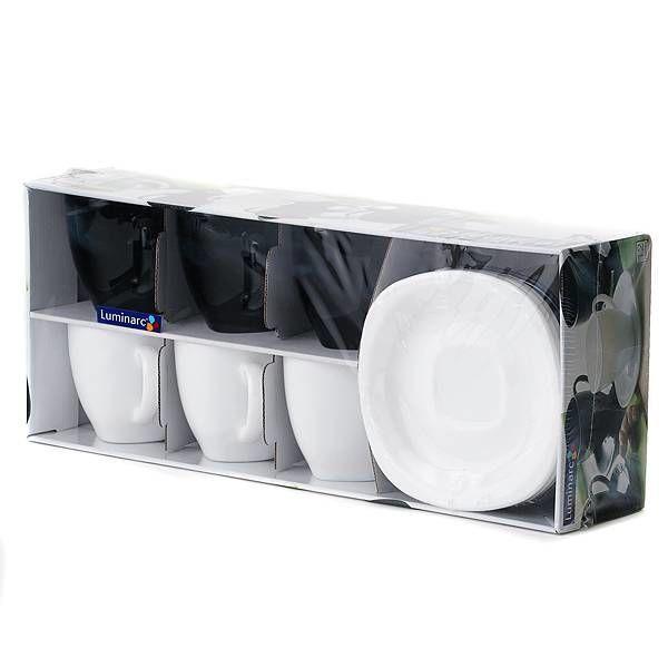 Luminarc Carine Black/White набір (набір) чайний 220мл d2371